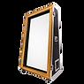 Élégante borne photo. Impression personnalisable instantanée. Compris dans l'offre : transport & installation/ animateur-assistant technique/ clé USB contenant l'intégralité des médias.