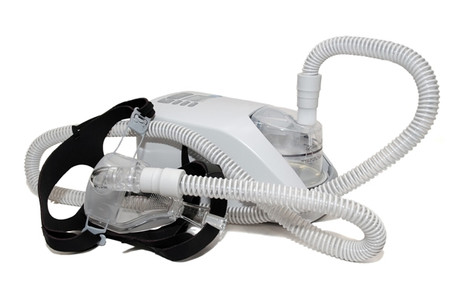 CPAP treatment machine and mask for sleep apnea
