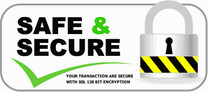 Safe & Secure - Your transaction is secure with SSL 128 bit encryption