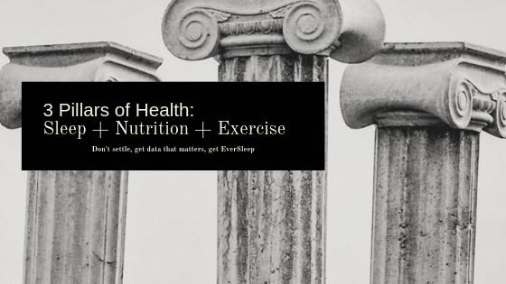 3 Pillars of Health: Sleep + Nutrition + Exercise