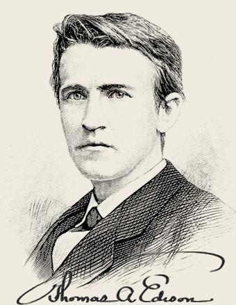 Thomas Alva Edison (1847 - 1931), Image from Popular Science Monthly Volume 13, 1878