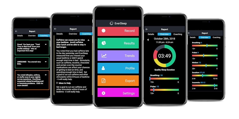 EverSleep 2 app upgraded features and performance - sleep better with EverSleep monitor and personalized sleep coaching