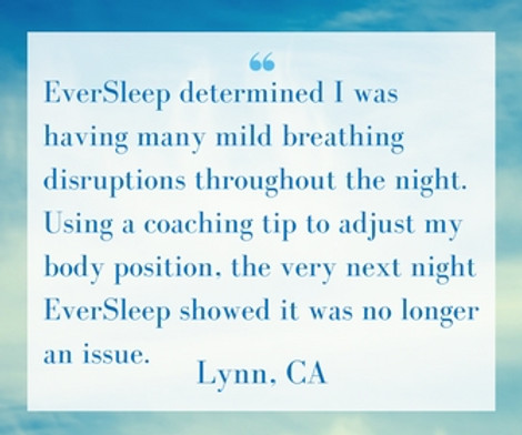EverSleep determined I was having many mild breathing disruptions