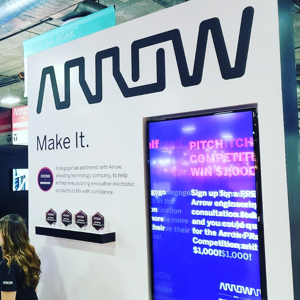 "Arrow Electronics ""Make It"" Showcase in Eureka Park at 2019 Consumer Electronics Show CES in Las Vegas"