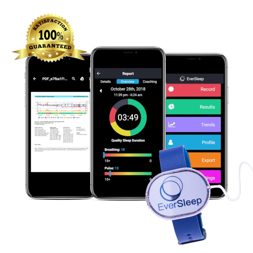 EverSleep 2 Personal Sleep Tracker, Tracks Sleep Quality, Personalized Coaching for Better Sleep and Health, Satisfaction 100% Guaranteed