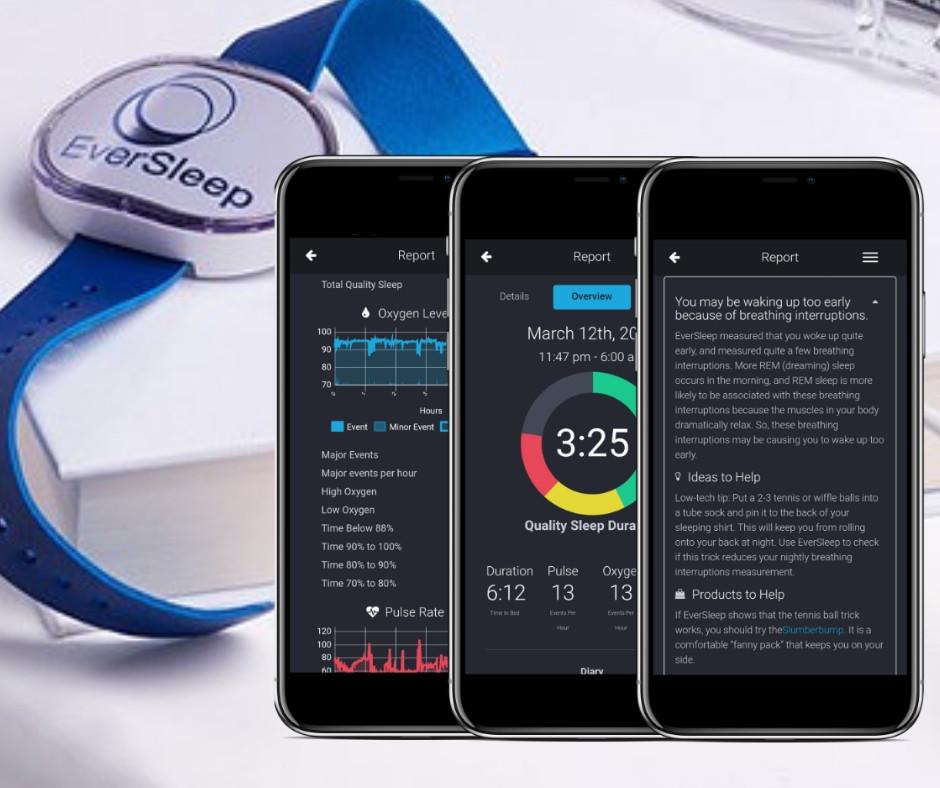 EverSleep wearable wrist device and mobile app