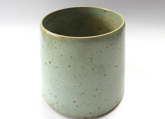 Speckled Green Utensil Pot/ Vase