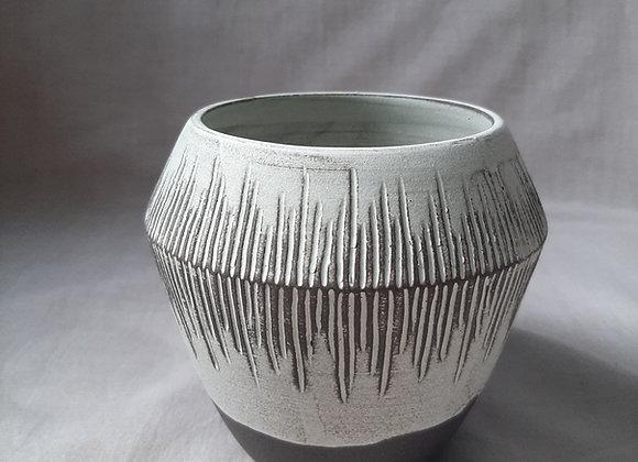Black Clay with Matte grey Glaze