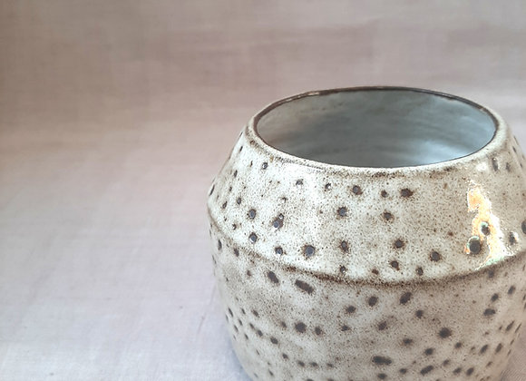 Black clay mini vase/ planter