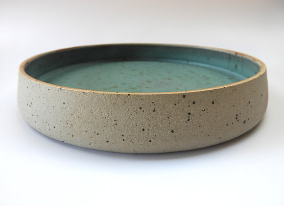 Green Speckled Deep Plate
