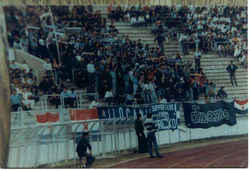 away 1988 BBB, lads in Belgrad - Partizan v Dinamo Zagreb.jpg