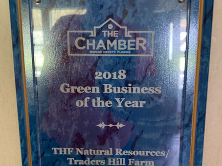 Traders Hill Farm Recognized as Green Business Leader