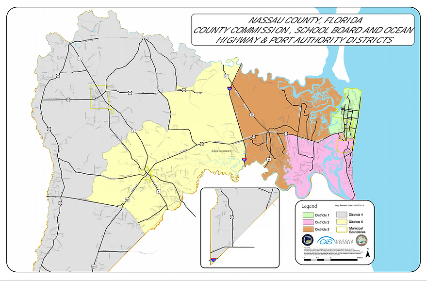 Nassau County Voting District Map