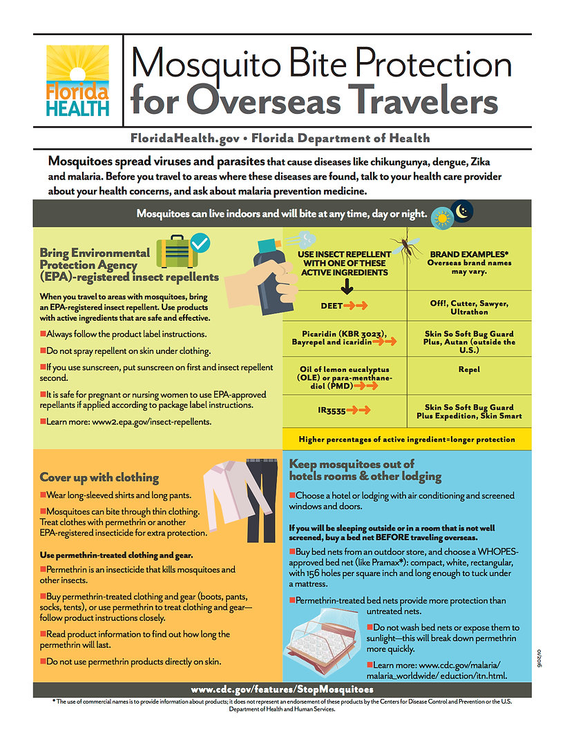Mosquito Bite Protection for Overseas Travel