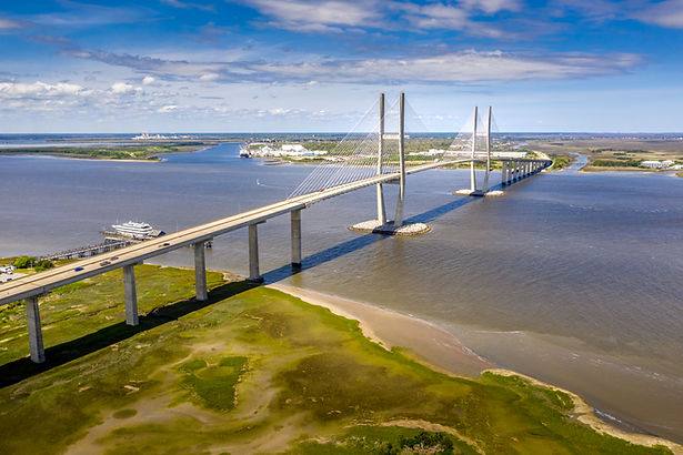 Aerial Cable-stayed bridge Sidney Lanier