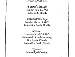 In Remembrance of Jack Bass