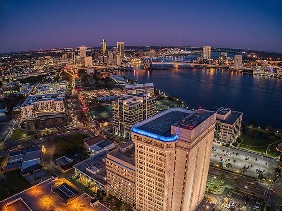 Aerial View of Jacksonville, Florida in