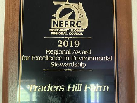 Traders Hill Farm Wins Environmental Stewardship Award