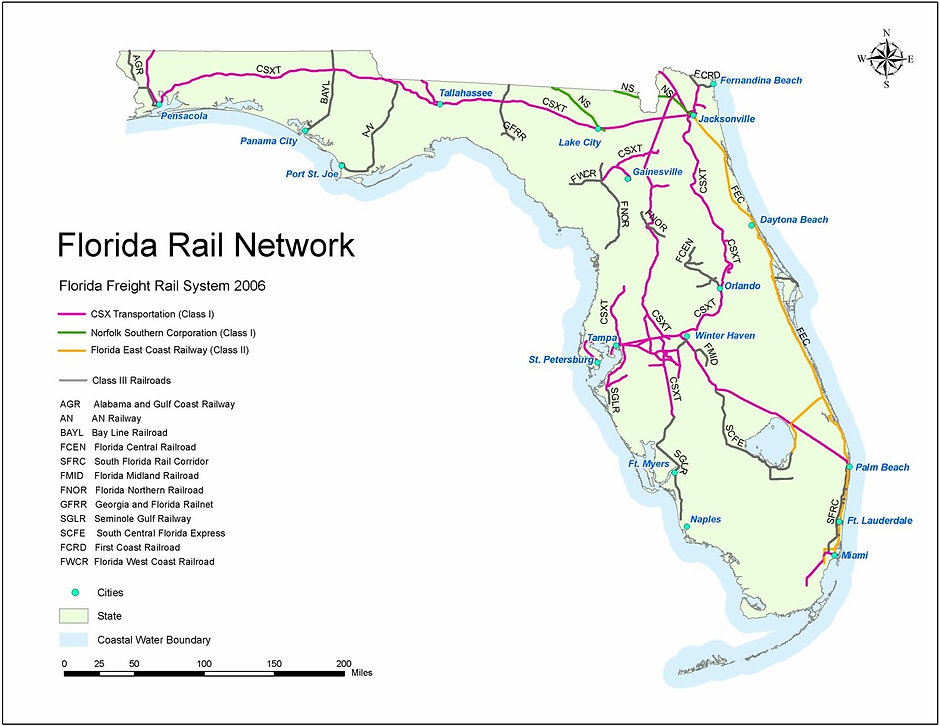 Digital image of Florida Rail Network