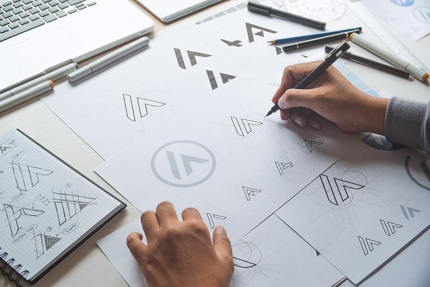 Graphic designer drawing sketch design c