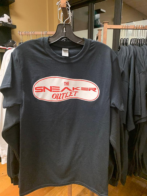 The Sneaker Outlet Tee Black with Red