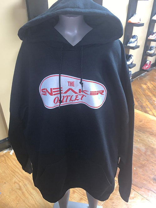 The Sneaker Outlet Hoodie Black with Red