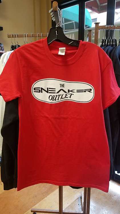 The Sneaker Outlet Tee Red with White