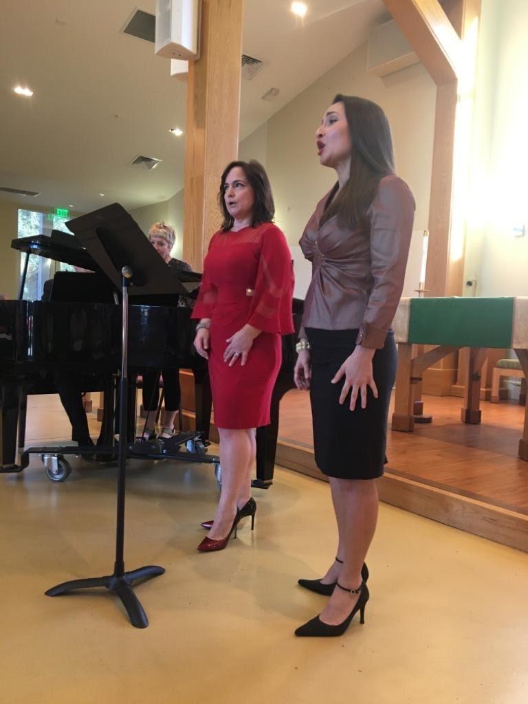 With soprano Camille Ortiz