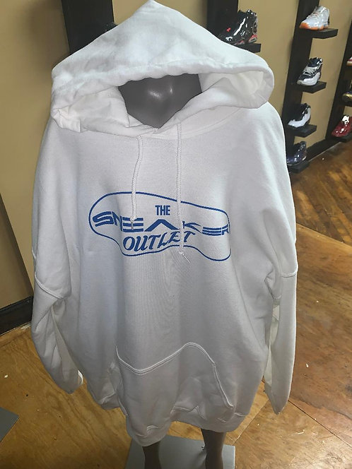 The Sneaker Outlet Hoodie White with Blue