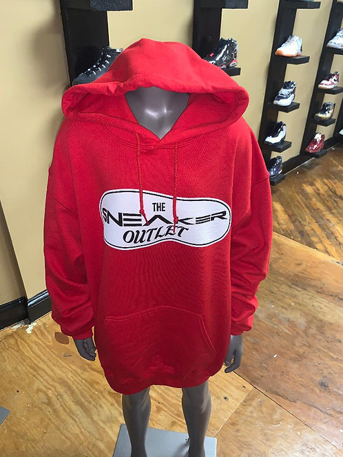 The Sneaker Outlet Hoodie Red with White