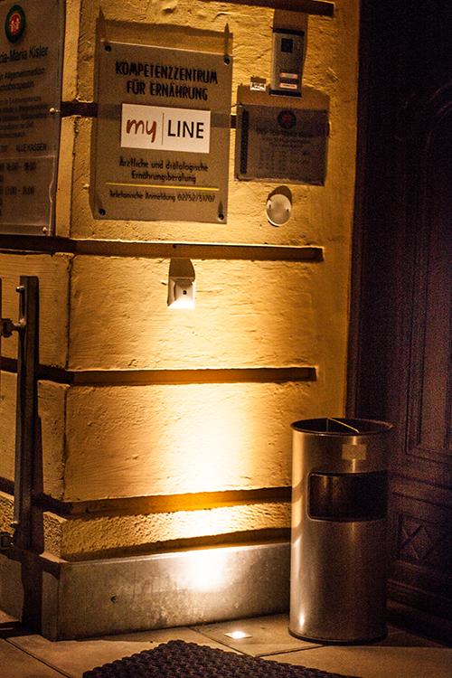 Lichtplanung Eingang Bodenlicht