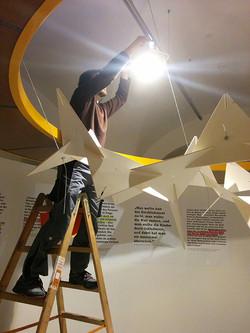 Lichtinstallation Ausstellung