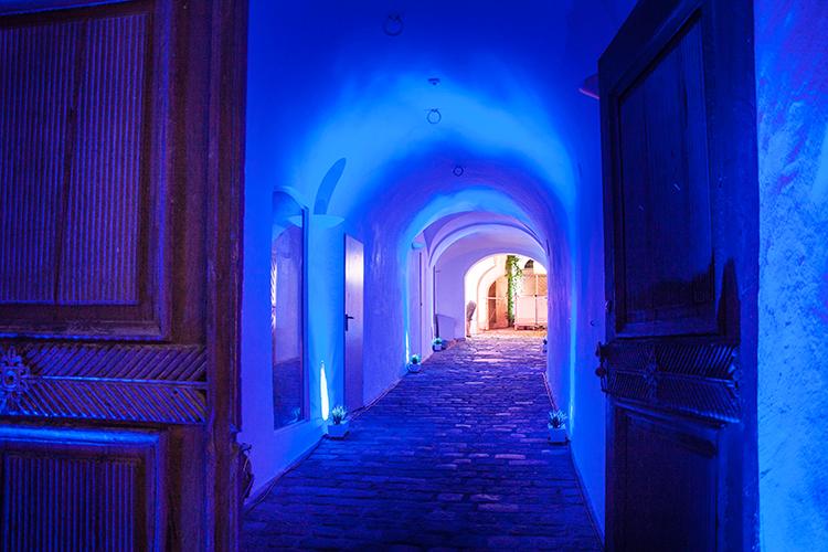 Lichtplanung Innenhof Eingang