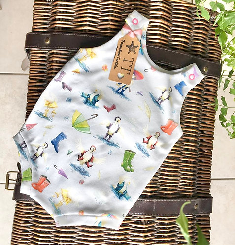 Duck and Wellies Short Romper (no autumn leaves)