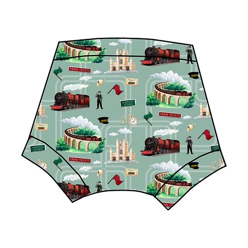 Green Train Shorts