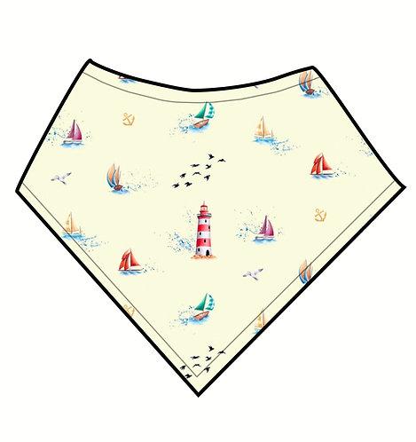Dribble Bib - Sailing Boats (blue/ yellow)