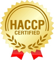Temos certificado de qualidade alimentar HACCP