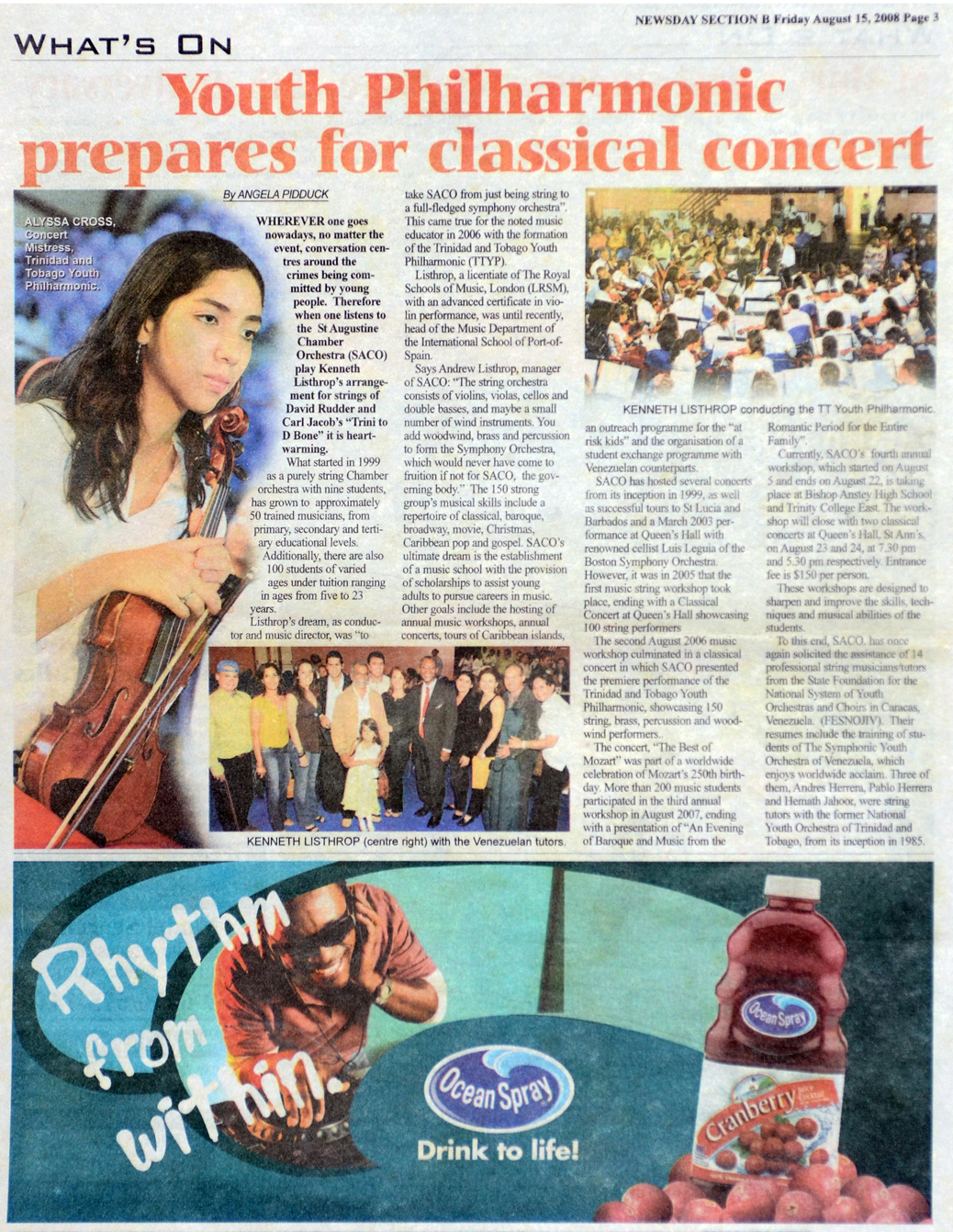 TTYP prepares for Classical Concert