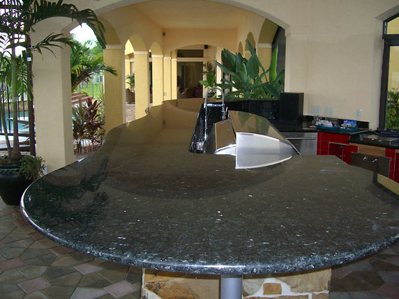 Outdoor bar, granite countertops, at home in Bonita Springs, FL