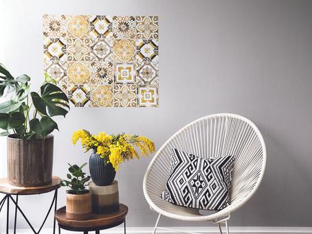 Cores para a sua casa - decorando com ladrilho adesivo