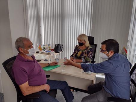 Visitas no gabinete - Daniel Paulo de Oliveira