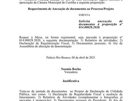 Solicita anexação de documentos