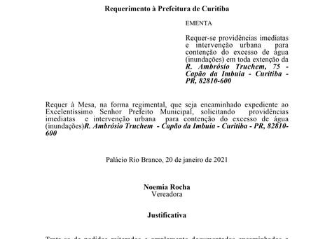 Providências imediatas e intervenção urbana para contenção do excesso de água na R. Ambrósio Truchem