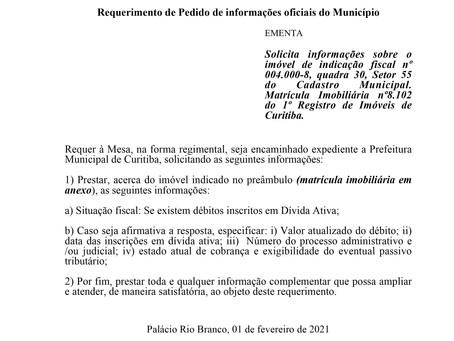 Informações sobre o imóvel de indicação fiscal nº 004.000-8