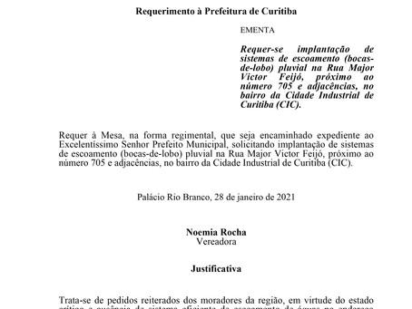 Implantação de sistemas de escoamento pluvial na Rua Major Victor Feijó