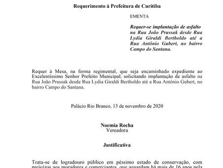 Asfalto na Rua João Prussak