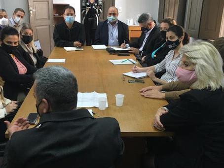 Reunião na Secretaria de Turismo de Curitiba