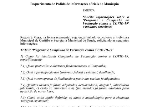 Solicitadas informações sobre plano de vacinação contra a covid-19