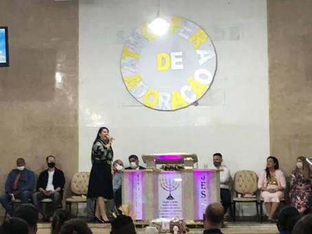 A vereadora foi representada no culto da IEADC - Santidade ao Senhor