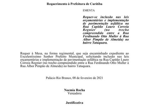 Inclusão nas leis orçamentárias e implementação de pavimentação asfáltica